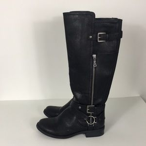 G by Guess Black Herly Riding Boots